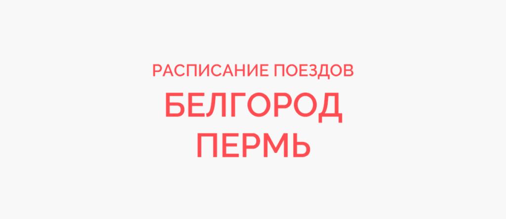 Поезд Белгород - Пермь