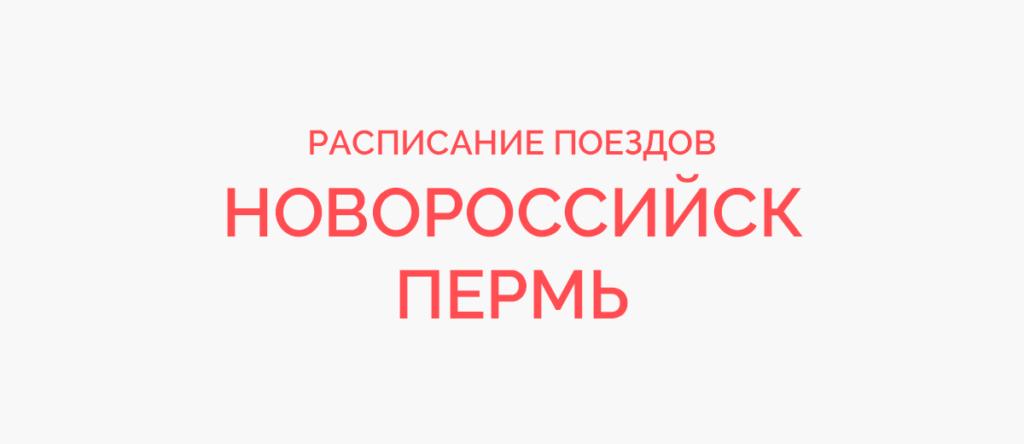 Поезд Новосибирск - Пермь