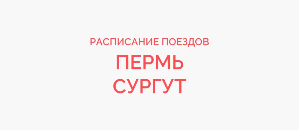 Поезд Пермь - Сургут